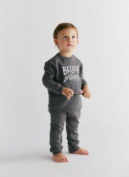 Believe in Magic Sweatshirt & Sweatpants Siyah Set