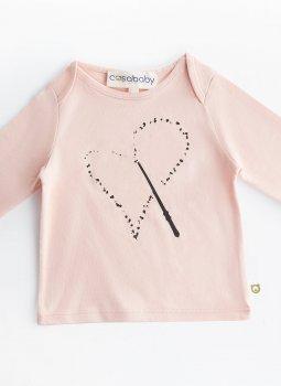 Magic Heart Uzun Kollu T-Shirt Pembe
