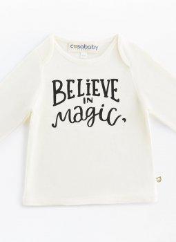 Believe in Magic Uzun Kollu T-Shirt Ekru