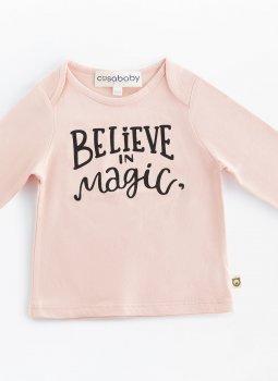 Believe in Magic Uzun Kollu T-Shirt Pembe