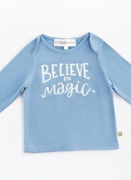 Believe in Magic Uzun Kollu T-Shirt Mavi