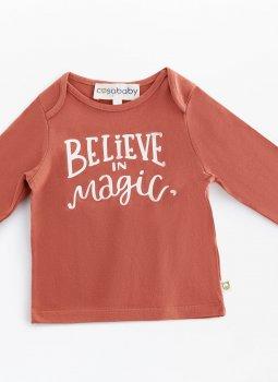 Believe in Magic Uzun Kollu T-Shirt Kiremit