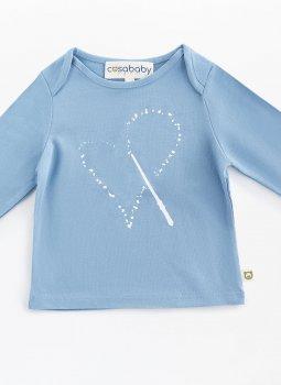 Magic Heart Uzun Kollu T-Shirt Mavi