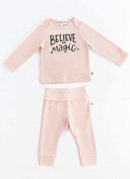 Beleive in Magic Uzun Kollu T-Shirt & Cozy Pants Pembe