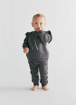 Magic Heart Ruffle Sweatshirt & Sweatpants Siyah Set
